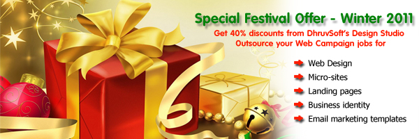 Festival offer 2011 for website design, micro-sites, landing pages, business identity, email marketing templates
