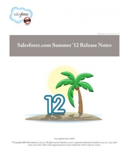 Salesforce.com Summer 12 New Features for End Users / Functional Enhancements