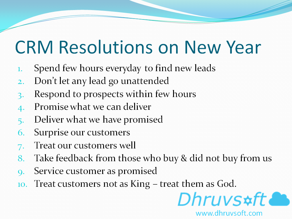 CRM Resolutions for the New Year