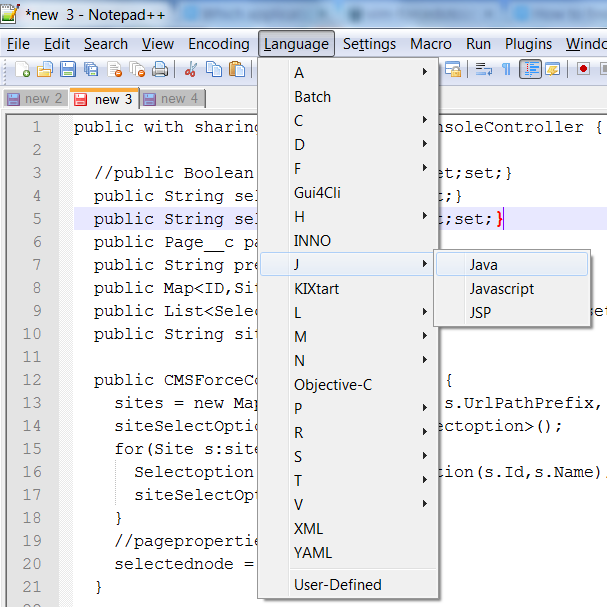 Turn on Java to view Apex in Notepad++