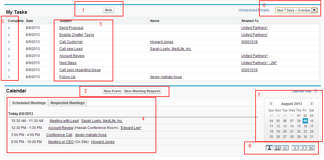 Managing Activities Tasks and Events in Salesforce