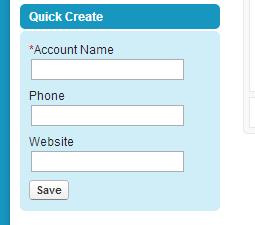 Quick Create Accounts