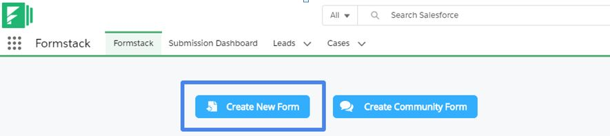 formstack Create New Form
