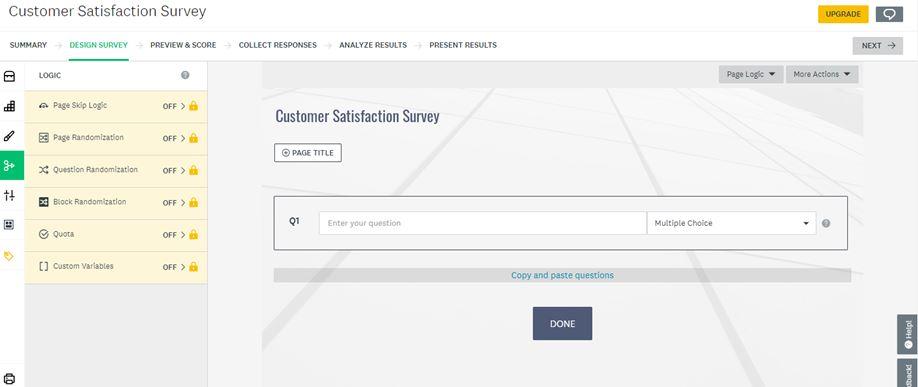 customer satisfaction Design Survey