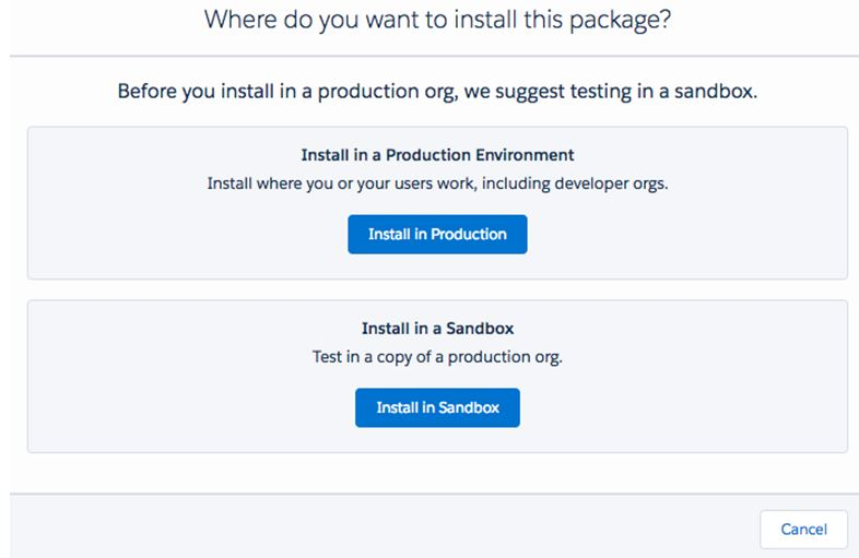 install the app in Production