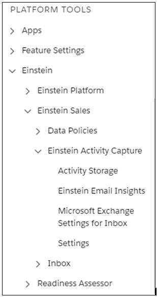Einstein Activity Capture under the setup menu