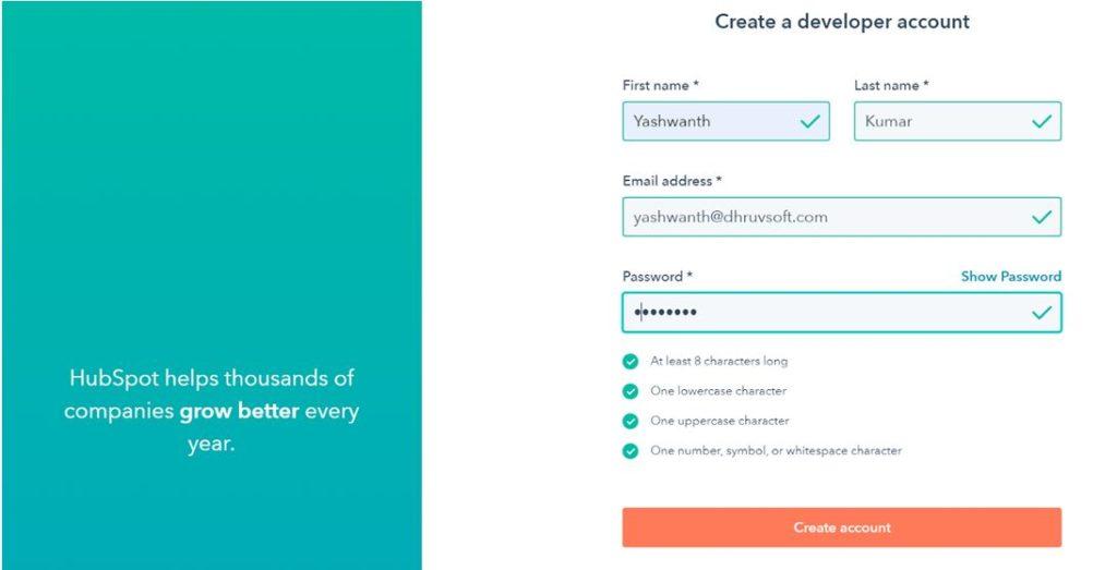 Create a Developer Account