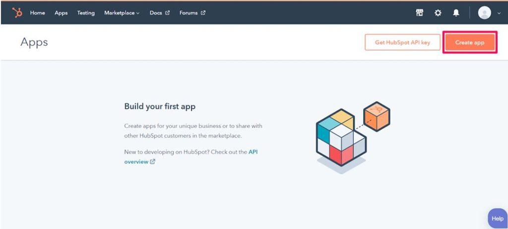 Create an App in Hubspot