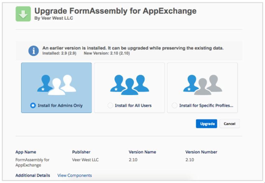 FormAssembly for AppExchange product