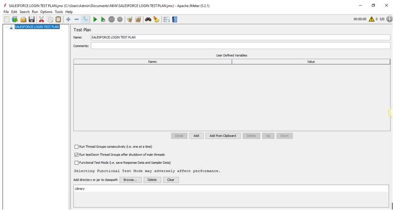 Jmeter GUI window